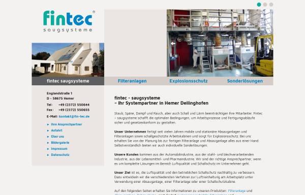 Vorschau von www.fin-tec.de, Fintec Saugsysteme, Inh. Dipl.-Ing. Armin Gebhard