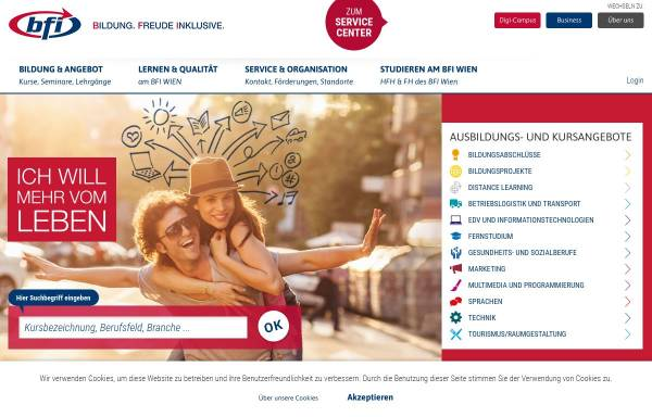Vorschau von www.bewerben.at, www.bewerben.at - Online Bewerbungsunterstützung des bfi Wien