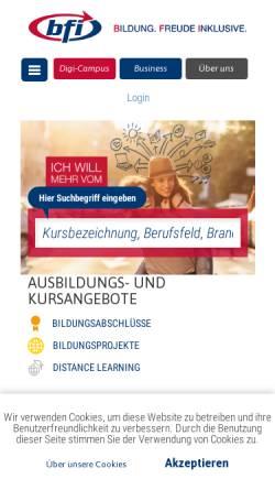 Vorschau der mobilen Webseite www.bewerben.at, www.bewerben.at - Online Bewerbungsunterstützung des bfi Wien