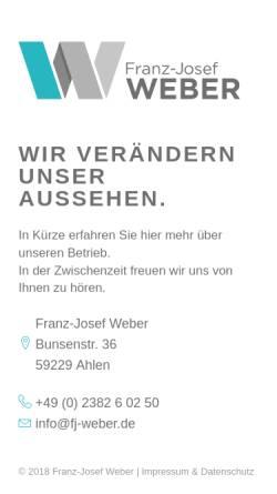 Vorschau der mobilen Webseite www.entsorgungstechnik-weber.de, Franz-Josef Weber Sonderanlagenbau - Entsorgungstechnik