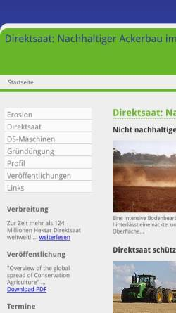 Vorschau der mobilen Webseite www.rolf-derpsch.com, Rolf Derpsch, Direktsaat-Berater