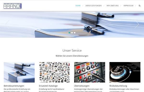 Vorschau von www.arano.de, Arano GmbH