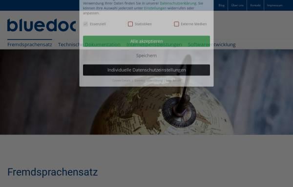 Vorschau von www.bluedoc.com, Bluedoc GmbH
