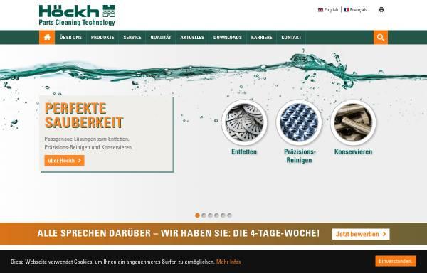 Vorschau von www.hoeckh.com, Höckh Metall-Reinigungsanlagen GmbH
