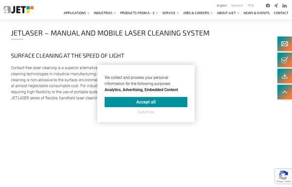Vorschau von www.jetlaser.de, Jet Lasersysteme GmbH