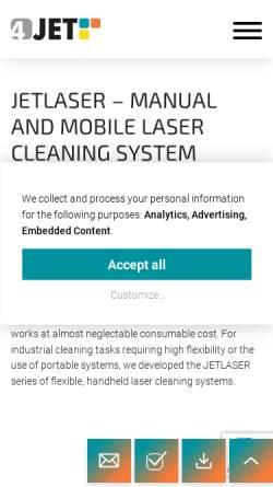 Vorschau der mobilen Webseite www.jetlaser.de, Jet Lasersysteme GmbH