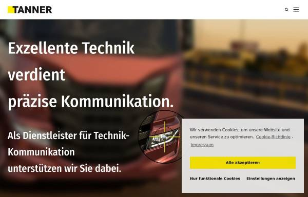 Vorschau von www.tanner.de, Tanner AG