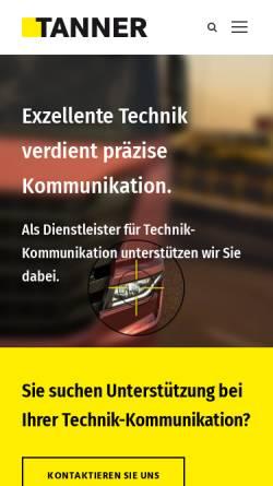 Vorschau der mobilen Webseite www.tanner.de, Tanner AG