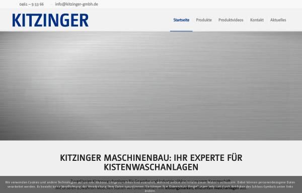 Vorschau von www.kitzinger-gmbh.de, Kitzinger Maschinenbau GmbH