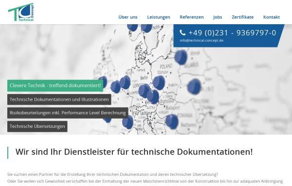 Vorschau von www.technical-concept.de, Technical Concept GmbH