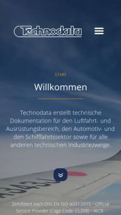 Vorschau der mobilen Webseite www.techno-data.de, Technodata Gesellschaft für technische Dokumentation mbH