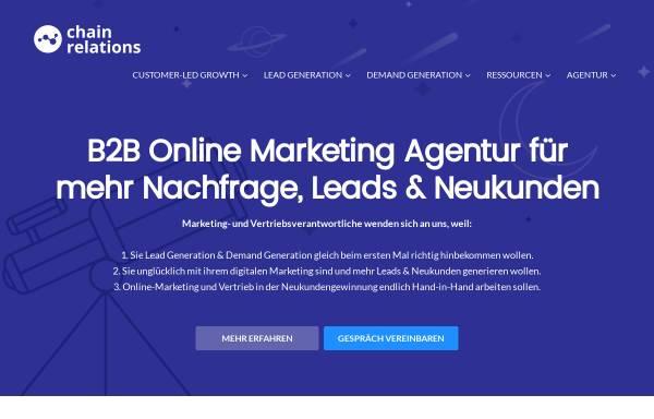 Vorschau von www.chainrelations.de, Chain Relations - Torsten Herrmann