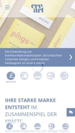 Vorschau der mobilen Webseite www.creart.de, Cre art Neidhardt Werbe GmbH