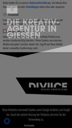 Vorschau der mobilen Webseite diviice.de, DIVIICE Advertising GmbH