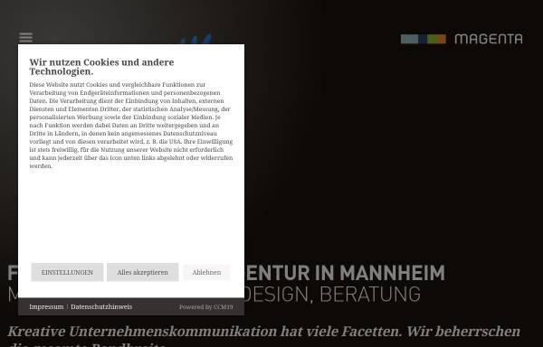 Vorschau von www.magenta-mannheim.de, Magenta Kommunikation, Design und Neue Medien GmbH