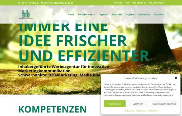 Vorschau von werbeagentur-beck.de, Werbeagentur Beck GmbH & Co. KG