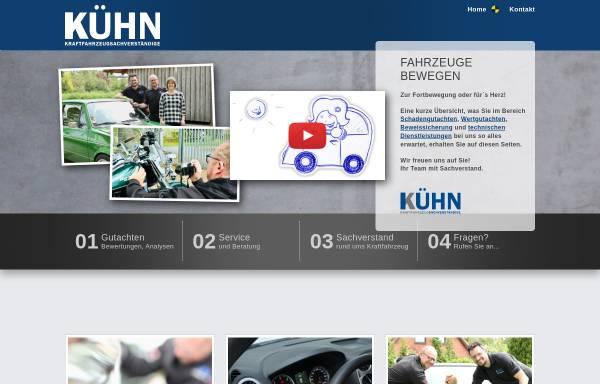 Vorschau von www.kfz-sv-kuehn.de, Kfz-Sachverständigenbüro Kühn