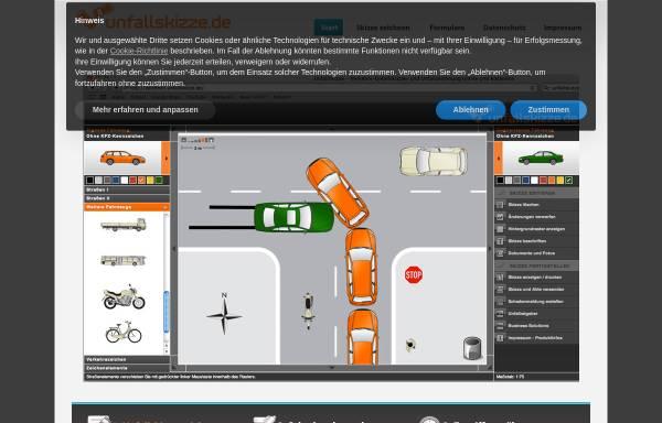 Vorschau von www.unfallskizze.de, Unfallskizze online