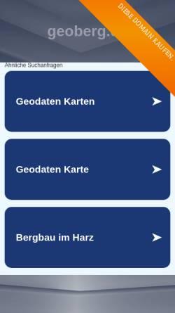 Vorschau der mobilen Webseite www.geoberg.de, Erlebnis-Bergbau