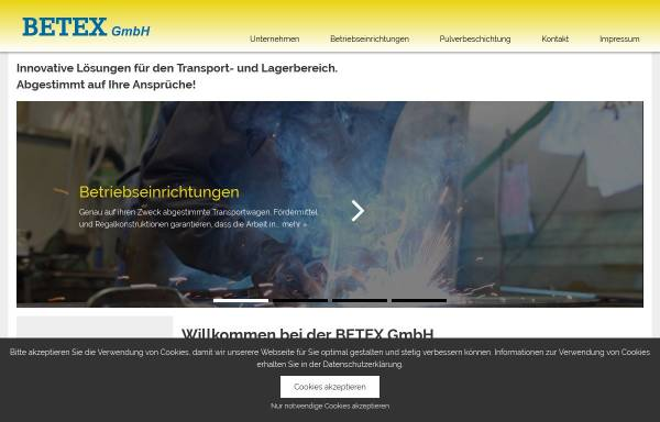 Vorschau von www.betex-gmbh.de, Betex GmbH