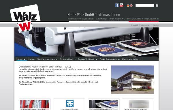 Vorschau von www.walz-gmbh.de, Heinz Walz GmbH