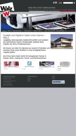 Vorschau der mobilen Webseite www.walz-gmbh.de, Heinz Walz GmbH