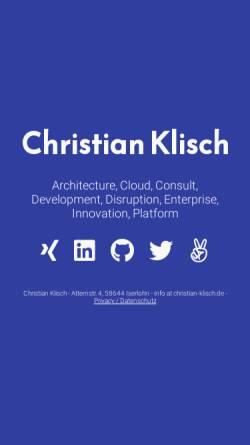 Vorschau der mobilen Webseite www.klisch-online.de, Computertechnik und Software im Studium