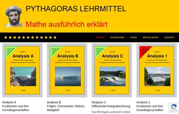 Vorschau von www.pythagoras.ch, Lehrmittel und Unterrichtsmaterialien für Taschenrechner