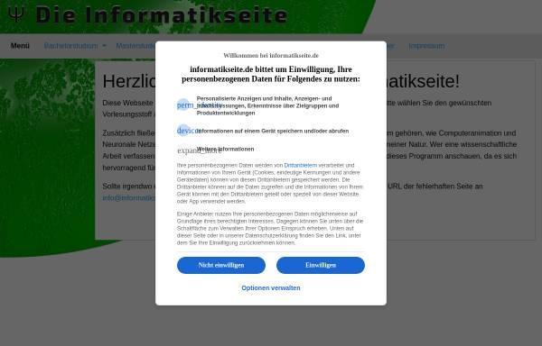Vorschau von www.grundstudium.info, Material für das Grundstudium in Informatik