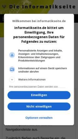 Vorschau der mobilen Webseite www.grundstudium.info, Material für das Grundstudium in Informatik