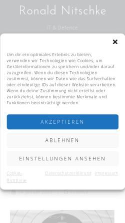 Vorschau der mobilen Webseite www.ronaldnitschke.de, WLAN, IPv6 und E-Government