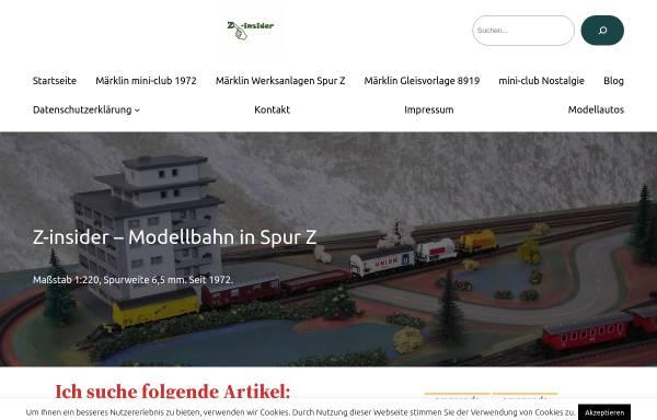 Vorschau von www.z-insider.de, Z-insider.de