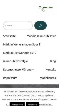 Vorschau der mobilen Webseite www.z-insider.de, Z-insider.de