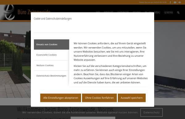 Vorschau von www.zeitenweide.de, Architekturbüro Zeitenweide GbR