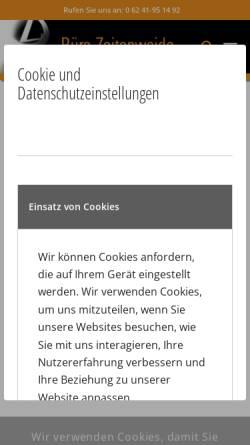 Vorschau der mobilen Webseite www.zeitenweide.de, Architekturbüro Zeitenweide GbR