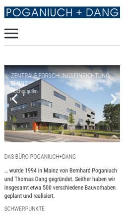 Vorschau der mobilen Webseite www.poganiuch-dang.de, Poganiuch und Dang
