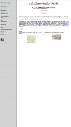 Vorschau der mobilen Webseite www.webisphere.de, Antiquarische Texte