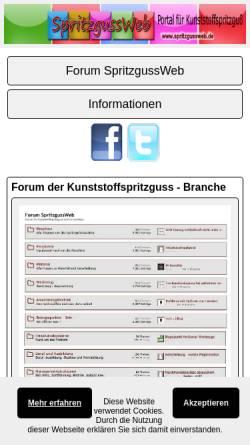 Vorschau der mobilen Webseite www.kunststoffspritzer.de, Spritzguss Kunststoff