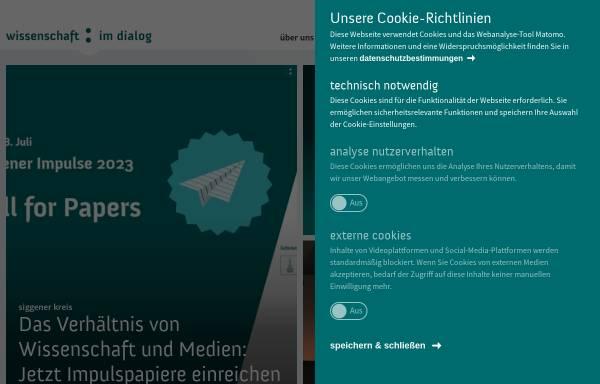 Vorschau von www.wissenschaft-im-dialog.de, Wissenschaft im Dialog gGmbH