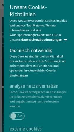 Vorschau der mobilen Webseite www.wissenschaft-im-dialog.de, Wissenschaft im Dialog gGmbH
