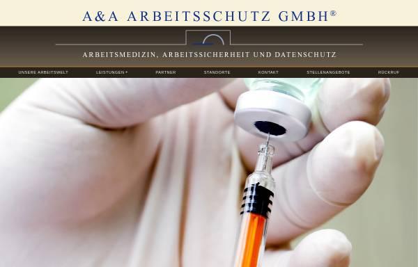 Vorschau von www.aa-arbeitsschutz.de, A & A Arbeitsschutz GmbH