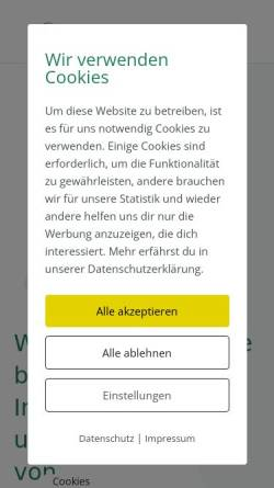Vorschau der mobilen Webseite www.asz-gmbh.de, ASZ GmbH & Co. KG
