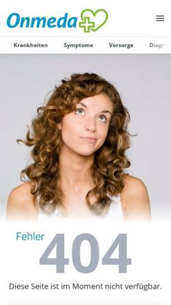 Vorschau der mobilen Webseite www.onmeda.de, Haarausfall bei Frauen