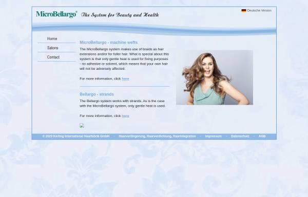 Vorschau von www.microbellargo.com, Haarverdichtung und Haarverlängerung mit MicroBellargo