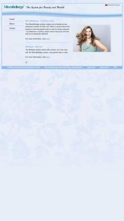 Vorschau der mobilen Webseite www.microbellargo.com, Haarverdichtung und Haarverlängerung mit MicroBellargo