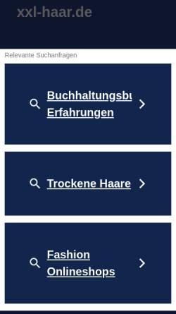 Vorschau der mobilen Webseite www.xxl-haar.de, Lange Haare