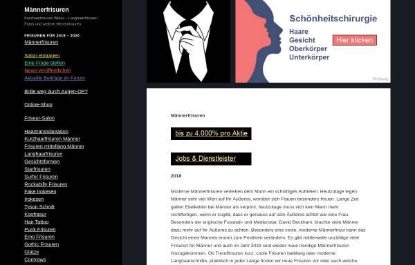 Vorschau von www.maennerfrisuren.org, Männerfrisuren