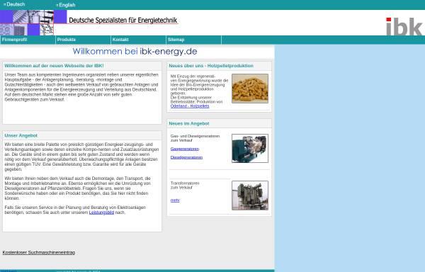 Vorschau von www.ibk-energy.de, IBK Ingenieurbüro Knoblich GbR