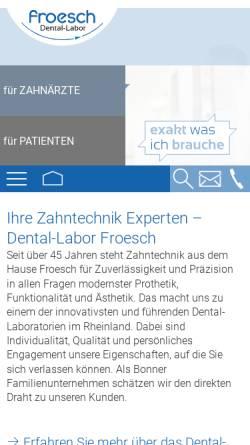 Vorschau der mobilen Webseite www.froesch-dental.de, Dental-Labor Froesch GmbH