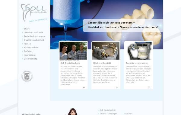 Vorschau von www.doll-dentaltechnik.de, D&O Dentaltechnik GmbH